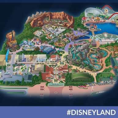 Here's Your First look at the Avengers Campus Map at Disney California Adventure