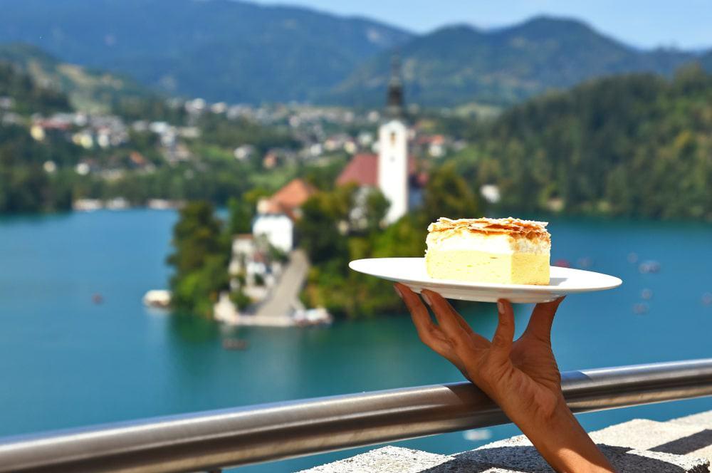 Bled Cake, known locally as kremšnita