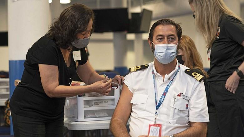 Carnival Captain Receiving Covid 19 Vaccine