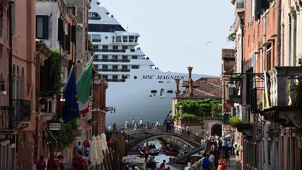 Cruise Ships in Venice