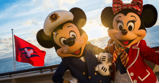 Mickey and Minnie in DIsney Cruise Line