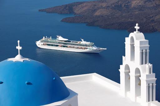 Splendor of the Seas in Santorini
