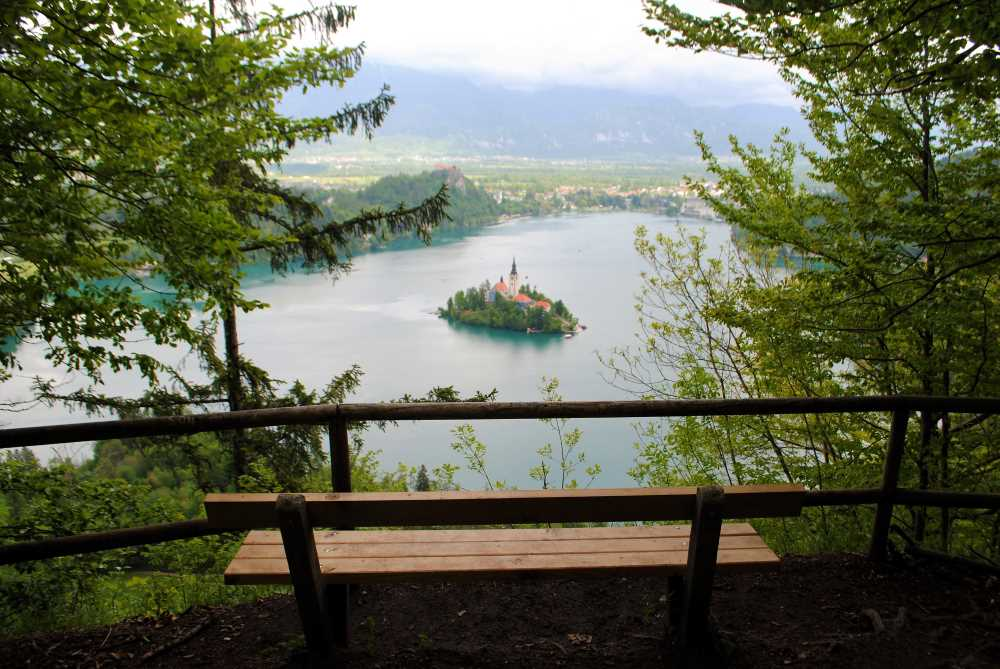 The view from Bled Lookout known as Ojstrica
