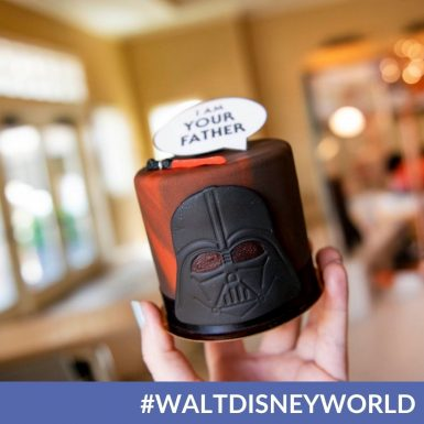 """Treat Dad with Amorette's Patisserie's Star Wars """"I Am Your Father"""" Petit Cake at Disney Springs"""