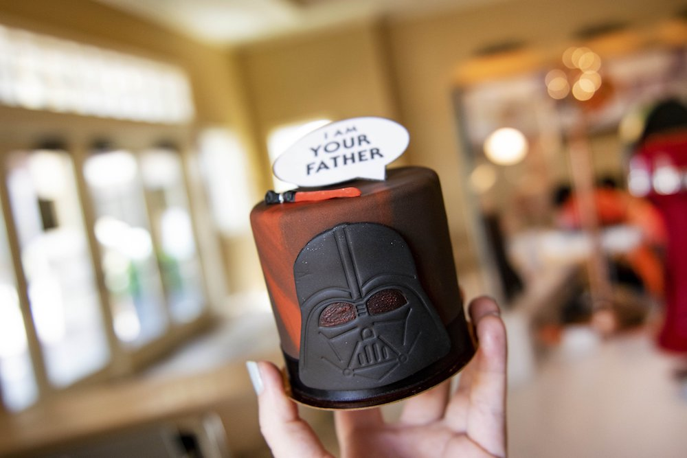 """Treat Dad with Amorette's Patisserie Star Wars """"I Am Your Father"""" Petit Cake at Disney Springs"""