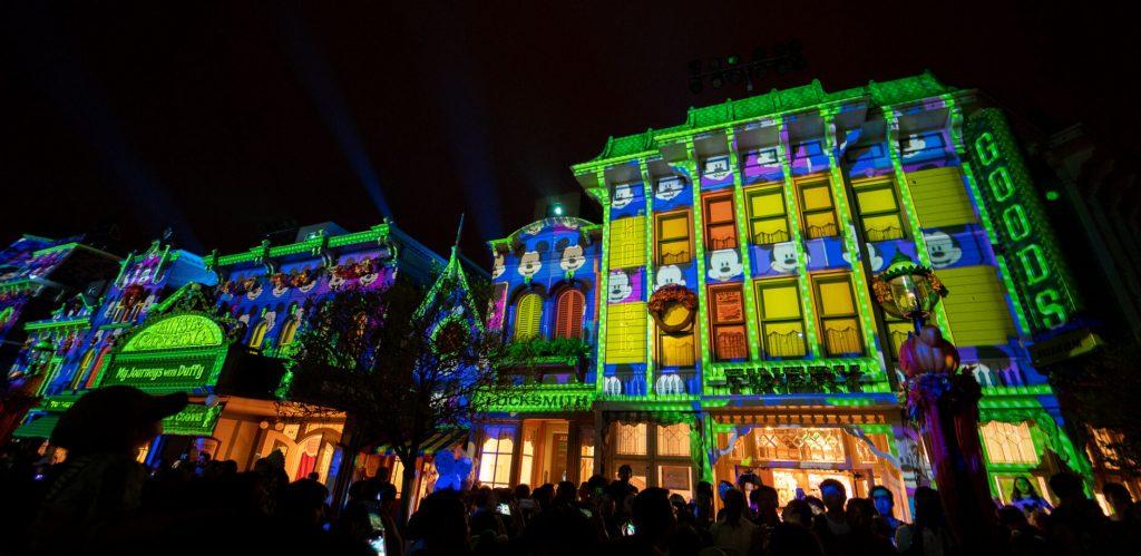 we-love-mickey main-street-projection-Hong Kong Disney Land
