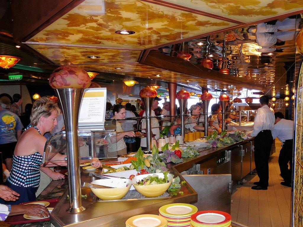 Carnival Ship Buffet Line
