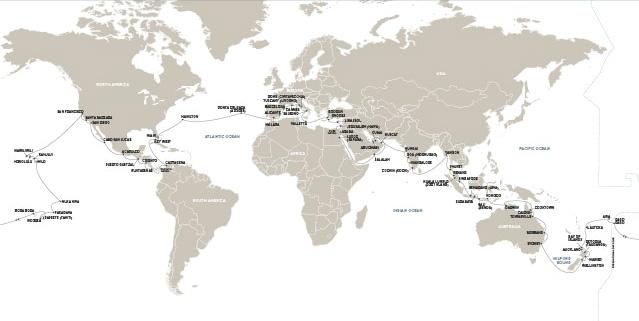 Mariner cruise map