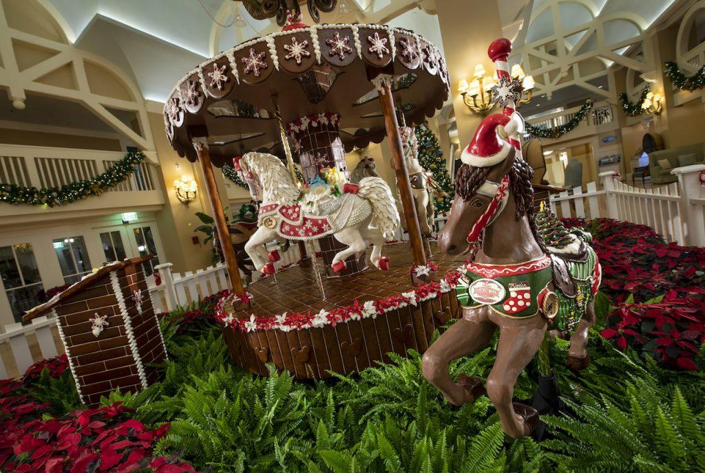 gingerbread house carousel Walt Disney Resort