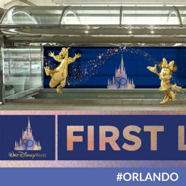 Orlando International Airport Celebrating Disney's 50th Anniversary With New Art Installation