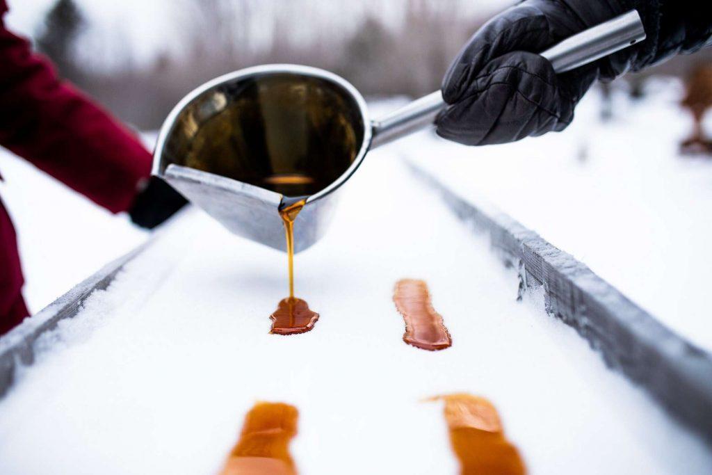 Club Med Quebec taffy on snow