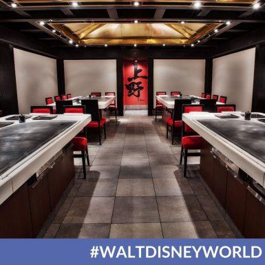 Full Teppan Edo Dining Experience at Disney's Epcot