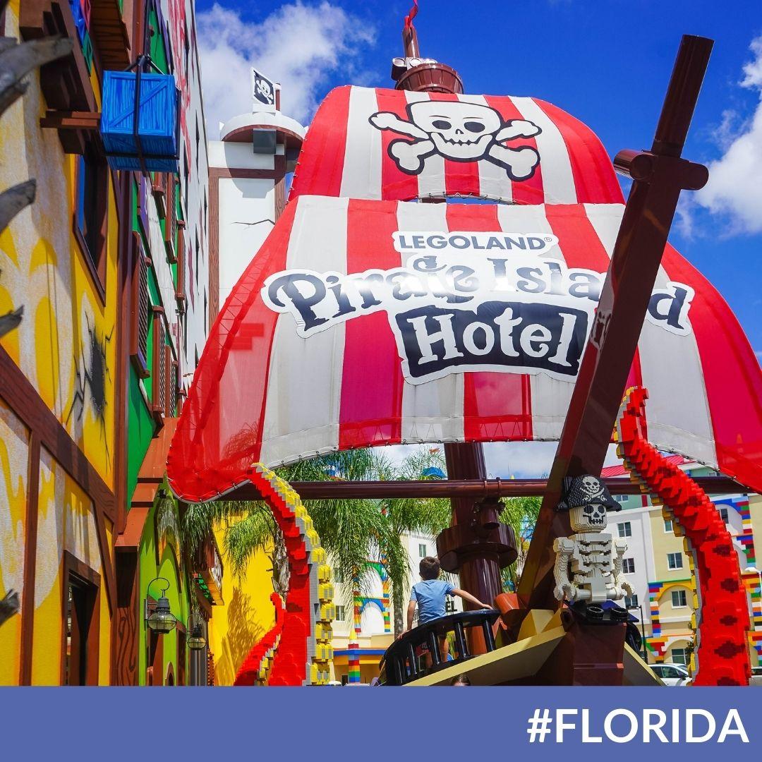 LEGOLAND Florida New Pirate Island Resort Tour